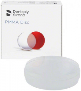 Disc PMMA ardere transparent - 25 mm - Sirona